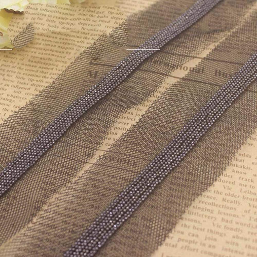 DACCU 5Yards - Collar de perlas con ribete de plata para scrapbooking