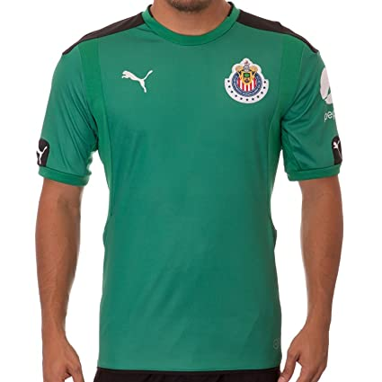97107b7d6c399 Puma Chivas Goalkeeper SS Jersey Green, Jerseys - Amazon Canada