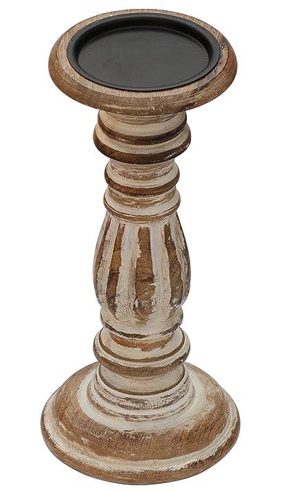 Amazon tall candle holders centerpiece pillar candle holder tall candle holders centerpiece pillar candle holder votive holder 11 inch wooden decorative junglespirit Images