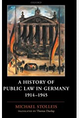 A History of Public Law in Germany 1914-1945 Hardcover