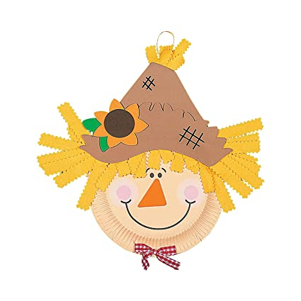 Paper Plate Scarecrow Craft Kit - Crafts for Kids u0026 Novelty Crafts  sc 1 st  Amazon.com & Amazon.com: Paper Plate Scarecrow Craft Kit - Crafts for Kids ...