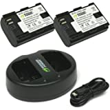 Wasabi Power Canon LP-E6, LP-E6N Replacement (2 Batteries + Dual Charger)