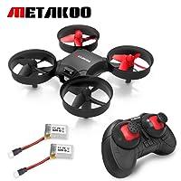 Metakoo Nano Drone, RC Quadcopter con Retención de Altitud, Protección de 360 Grados, 2,4 GHz 4 Canales 6-Axis Gyro, para Niños y Principiantes, Modo sin Cabeza, Velocidad Ajustable, 3D Flips, M1