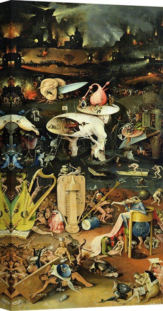 Art Print Cafe – Cuadro – Impresion sobre Lienzo - Hieronymus Bosch, El jardín de Las delicias III – 140x70 cm: Amazon.es: Hogar