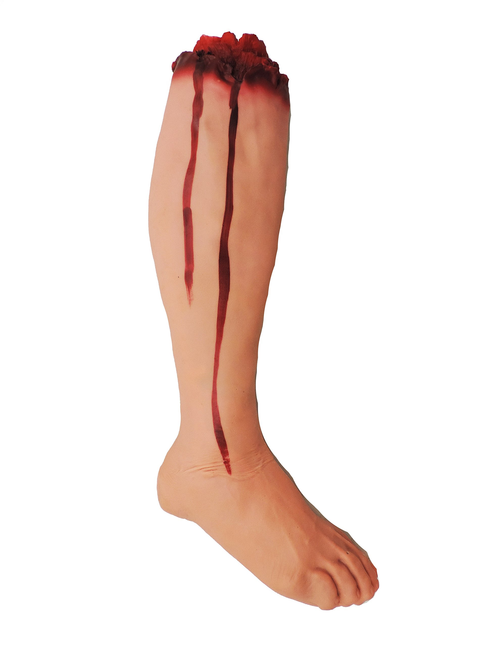 Severed Bloody Leg Halloween Haunted House Prop Accessory