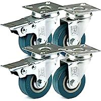 H&S Rueda giratoria de goma de servicio pesado