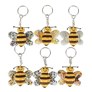 Amazon.com: Llavero de tela de abeja Sass & Belle Buzz: Arte ...