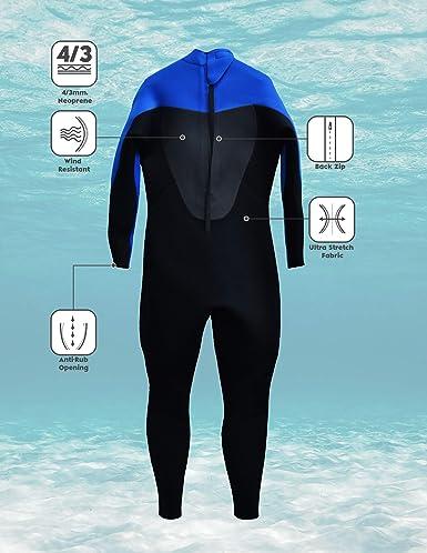 Kounga Profesional 4.3 Traje de Neopreno de Surf y Buceo, Hombre ...