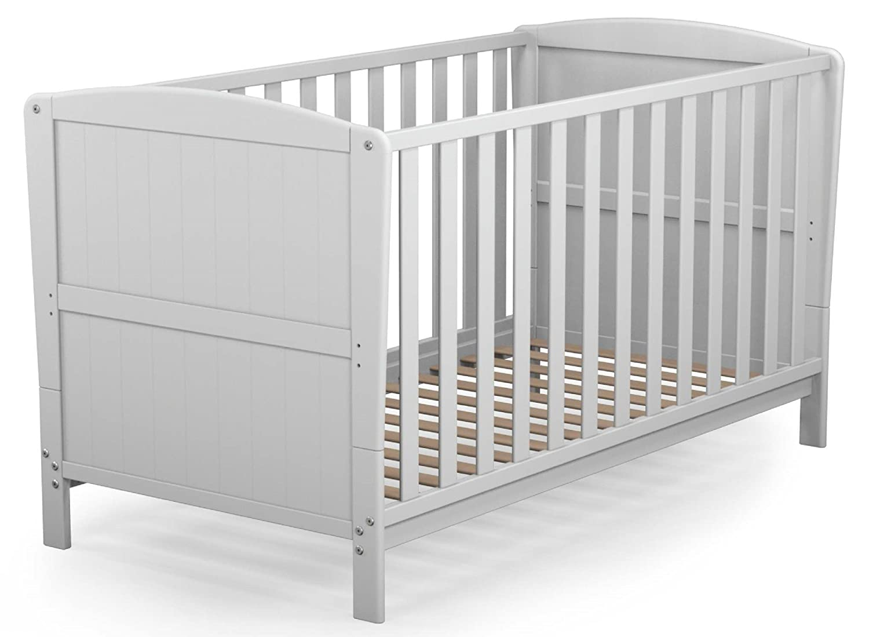 Polini Kids Gitterbett Babybett Kinderbett 710 120x60 cm wei/ß mit Motiv,1586.9.3