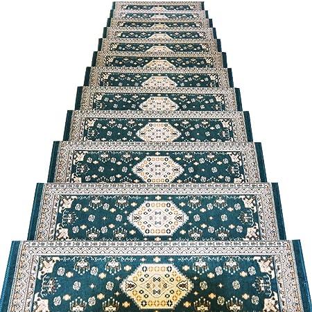 ZENGAI Alfombras de alfombra - Peldaños de alfombra for escaleras | Ribete de escalera | Frontera reforzada | Escalera alfombra corredores | Conjunto de 1 pieza, conjunto de 3 piezas, conjunto de 5 pi: Amazon.es: Hogar
