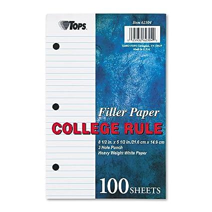 TOP62304   Tops Filler Paper By Tops