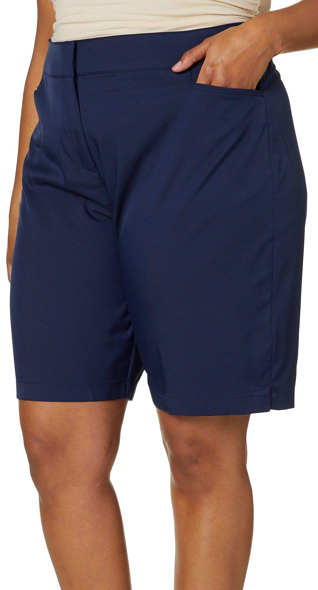PGA TOUR Women's Motionflux 19'' Tech Short, Caviar, 14 by PGA TOUR
