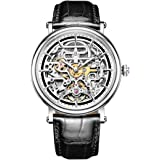 Reef Tiger Skeleton Casual Watches for Men Ultra Thin Steel Automatic Watches RGA1917