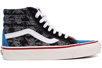 cf91750012 Vans Men s Sk8-hi Top Reissue Textile Trainers Stv Navy Multi 9 M US Women