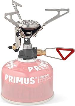 Relags Primus Microntrail - Hornillo eléctrico con encendido piezoeléctrico y regulación, plateado, tamaño único