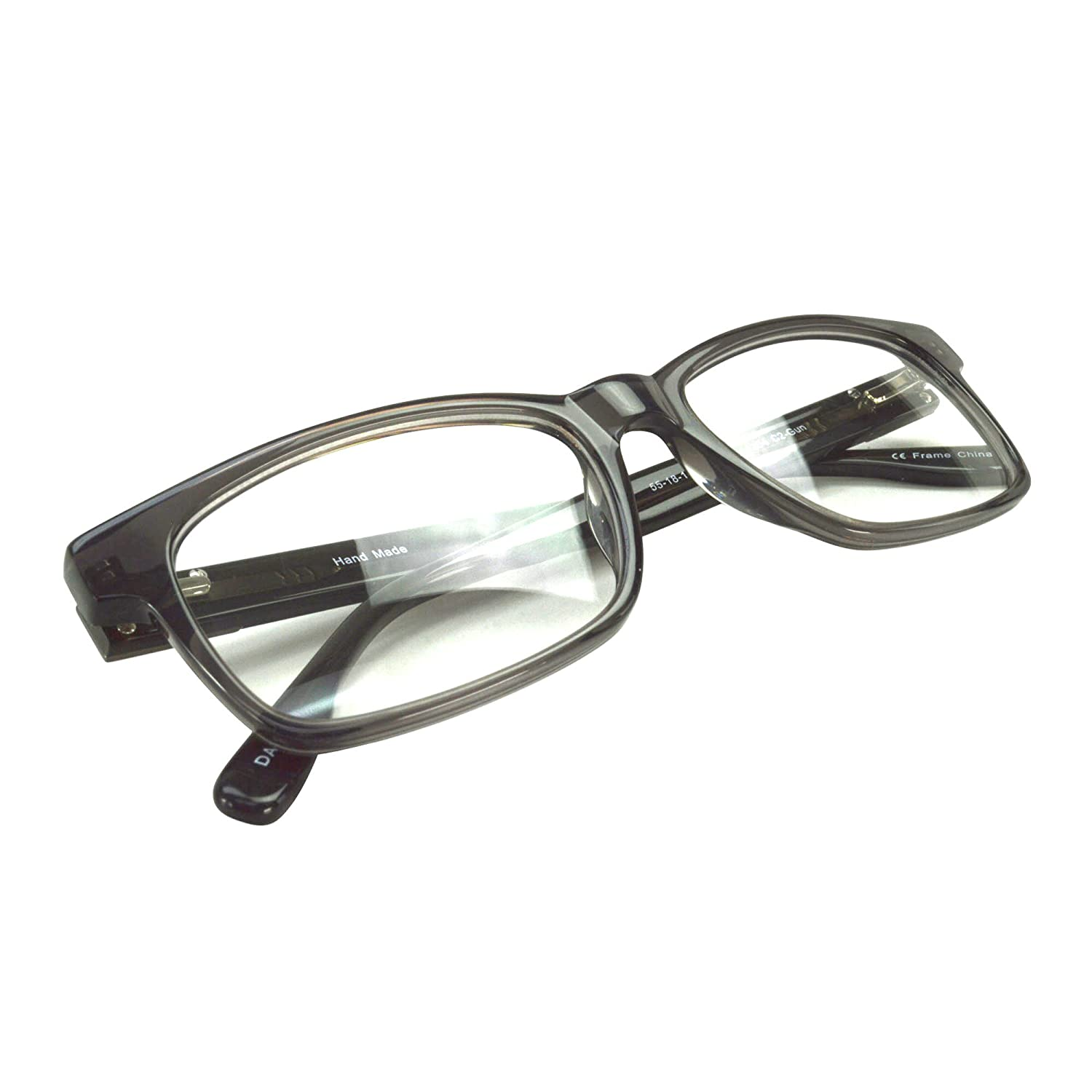 1771fda8cb Amazon.com  Mens Strong Glasses Frames Prescription Eyeglasses Rxable 55-18- 145-37 in Gunmetal  Clothing