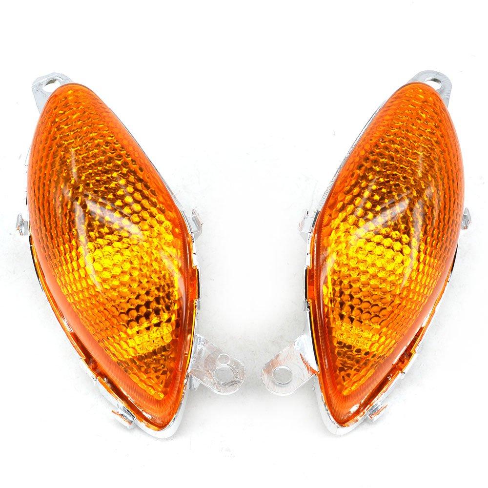 JFG RACING Black Front Turn Signals Blinker Light Lamp Indicator Cover Guard For Suzuki Hayabusa GSXR1300 2008-2017
