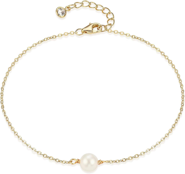 Dainty Pearl Bracelet  Tiny Pearl Bracelet  Bead Bar Bracelet  Pearl Gold Bracelet  Delicate Bracelet  Minimal Bracelet  Birthday Gift