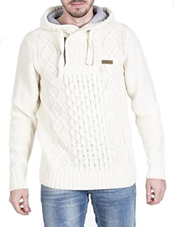 M.O.D Herren Pullover AU15 PL536, Weiß (Offwhite 42), Large