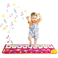 Alfombra de Piano, Alfombra de Teclado Táctil Musical Touch Juego Musical para Bebé (Violado)