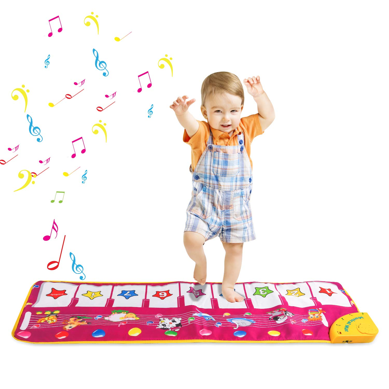 Musical Toys,Piano Mat Zmoon Musical Carpet Baby Toddler Activity Gym Play Mats , Baby Early Education Coolplay Music Singing Piano Keyboard Blanket Touch Play Safety Learn Singing funny Toy for Kids Gift (Purple)