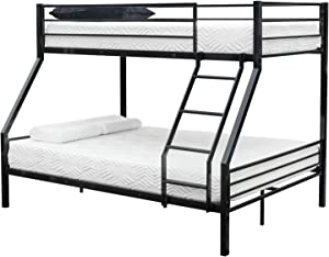 happyday04 Easy Assembly Quick Lock Twin Over Twin Classic Metal Bunk Bed with Dual Ladders/Quick to Assemble in Under an Hour