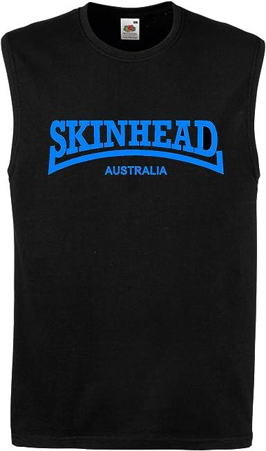 Skinhead Australia Chaleco Músculos Top Camiseta de Tirantes T ...