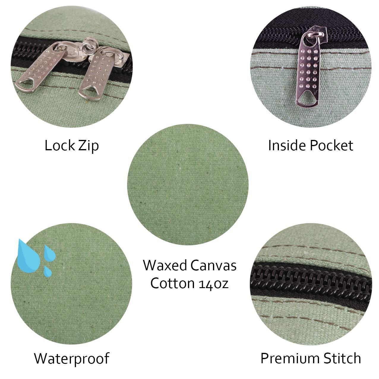 Bolsa de herramientas de lona resistente Bolsa para herramientas t/ácticas Jumbo 18 pulgadas Incluye 4 bolsas grandes con cremallera para herramientas gris