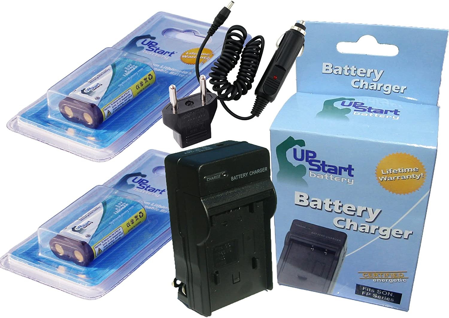Charger Replacement for Olympus C-4000Z Battery 1300mAh 3.3V Lithium-Ion Compatible with Olympus CR-V3 Digital Camera Battery and Charger 2 Pack