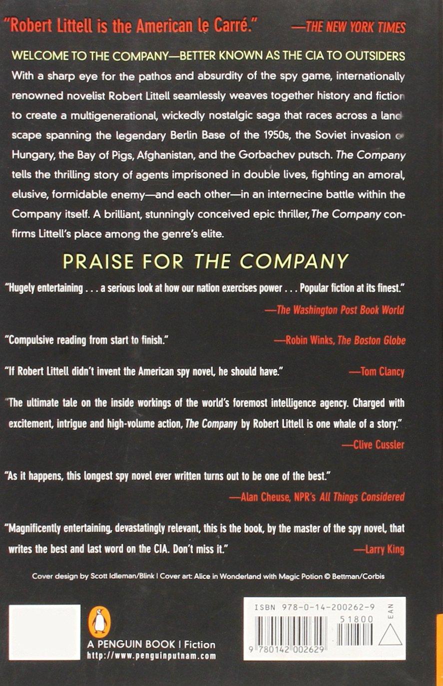 Amazon The Company A Novel Of CIA 9780142002629 Robert Littell Books