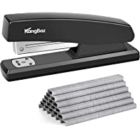 Office Desktop Staplers and Staples - 20 Sheet Capacity (26/6),1/4 inch with 5000 Staples The Newest Design of Portable…