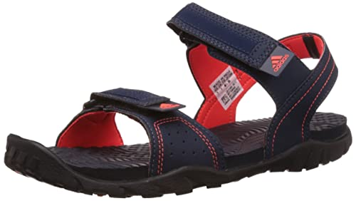 b28081dda Adidas Men s Aron Blue and Solar Red Athletic   Outdoor Sandals - 12 ...