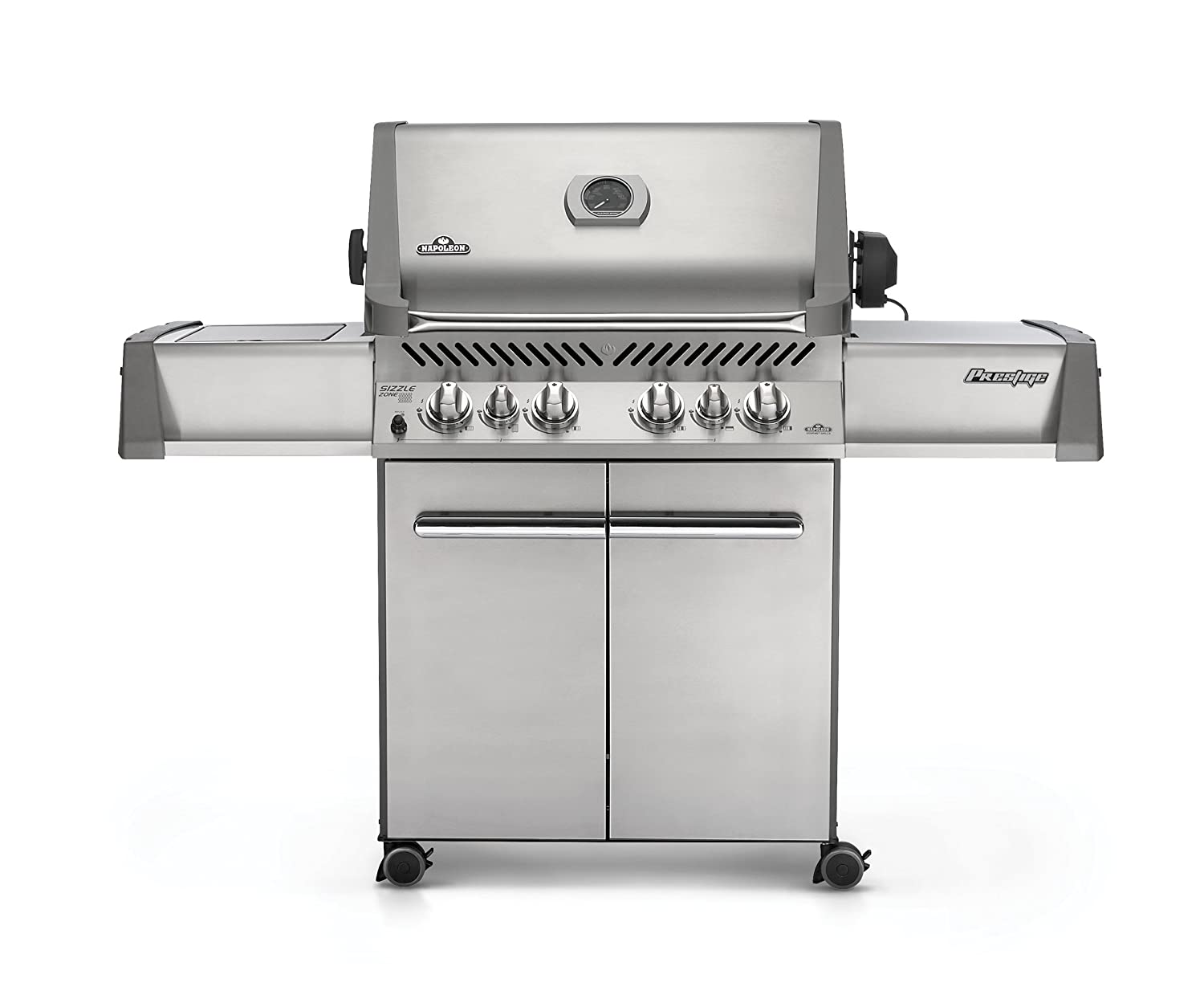amazon com napoleon p500rsibpss prestige propane grill with rear