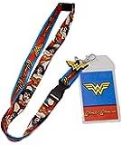 DC Comics Wonder Woman Logo Charm Breakaway Lanyard