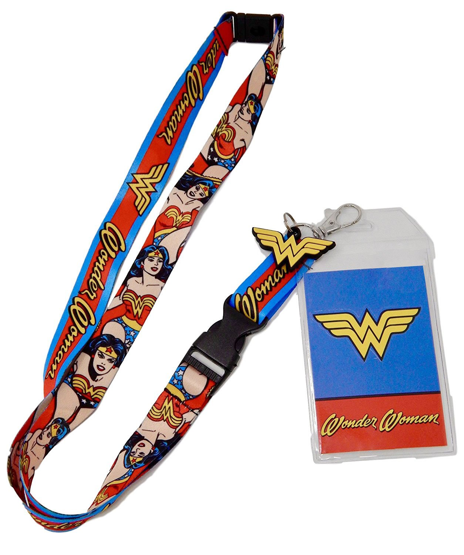 DC Comics Wonder Woman Logo Charm Breakaway Lanyard Bioworld