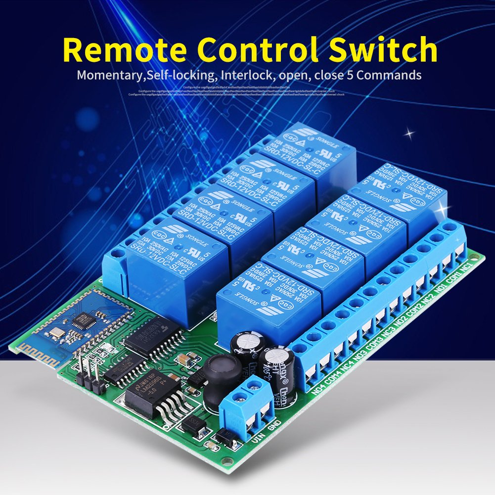 12v 8 Channel Bluetooth Relay Module Remote Control Switch Board For Android Walfront