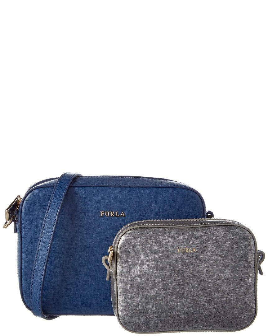 Furla Women's Travel Crossbody Set, Blu Cobalto/Silver by Furla