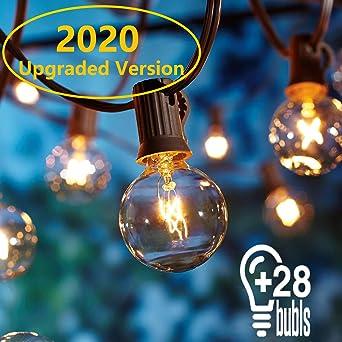 9 Metros Guirnaldas luminosas de exterior,[Versión actualizada] OxyLED G40 Luces de la secuencia del jardín al aire libre,Decorative String Luces de patio,Garden Terrace Luces de patio de Navidad: Amazon.es: Hogar