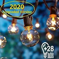 Guirnaldas luminosas de exterior,[Versión actualizada] OxyLED G40 25ft