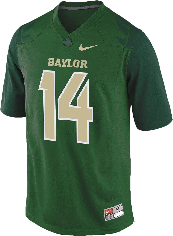 Amazon.com : Nike Men's Baylor Bears Green No. 14 Replica Football ...