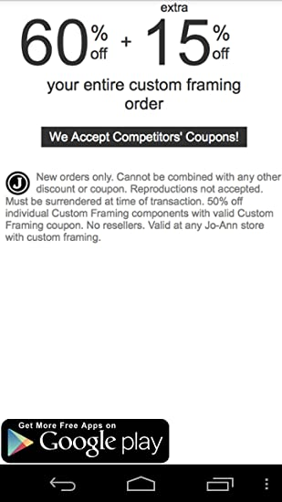 Amazon.com: Coupons for Joann Craft Stores: Appstore for Android