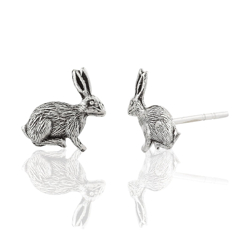 Children's 925 Sterling Silver Bunny Rabbit Stud Earrings