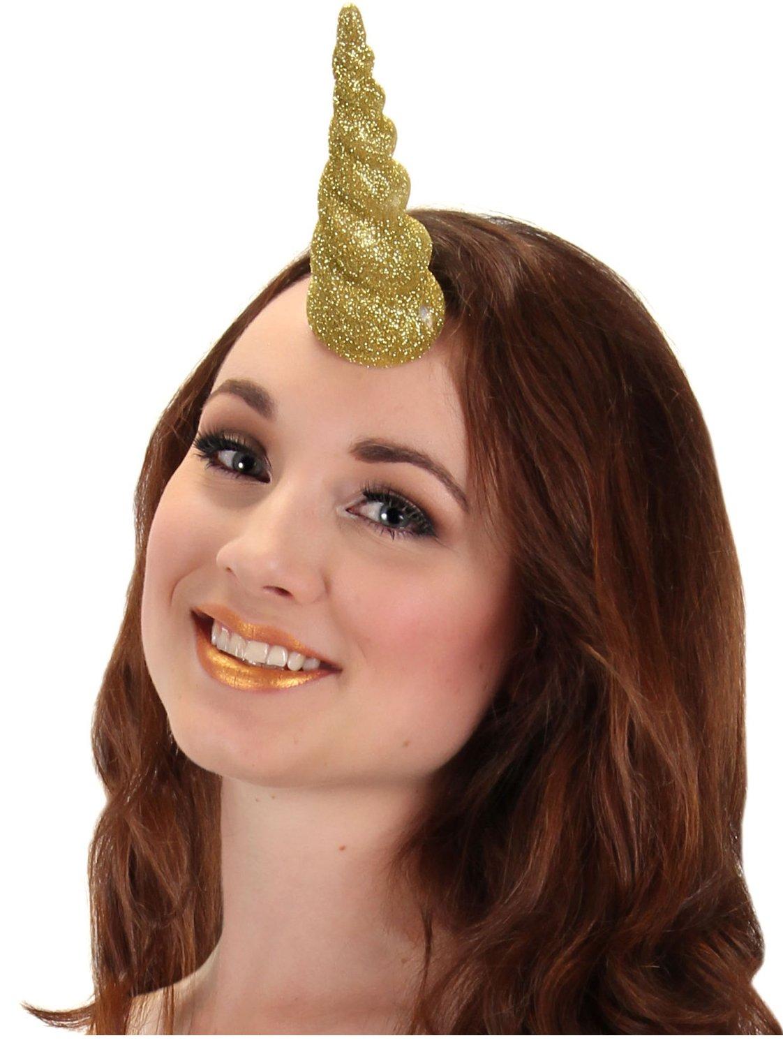 Gold Glitter Unicorn Horn by elope