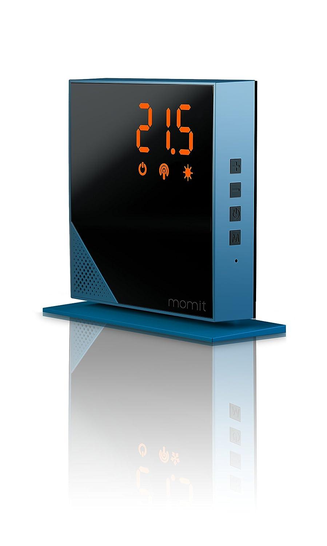 Momit MHTBV1 Termostato Inteligente, Azul: Amazon.es: Bricolaje y herramientas