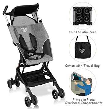 BABY JOY Pocket Stroller, Extra Lightweight Compact Folding Stroller, Aluminum Structure, Five-