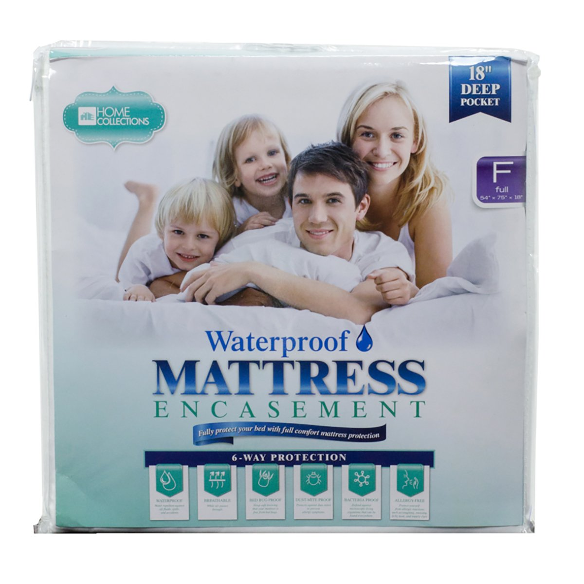 BD-5231 Mattress Encasement - 100% Waterproof, Bed Bug Proof, Hypoallergenic - Premium Zippered Six-Sided Cover Deep Pocket (Full)