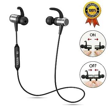 Auriculares con Bluetooth para correr, inalámbricos, micrófono integrado, anulación de sonido, bajos