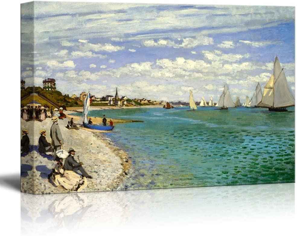 wall26 - Regatta at Sainte-Adresse by Claude Monet - Canvas Print Wall Art Famous Painting Reproduction - 24