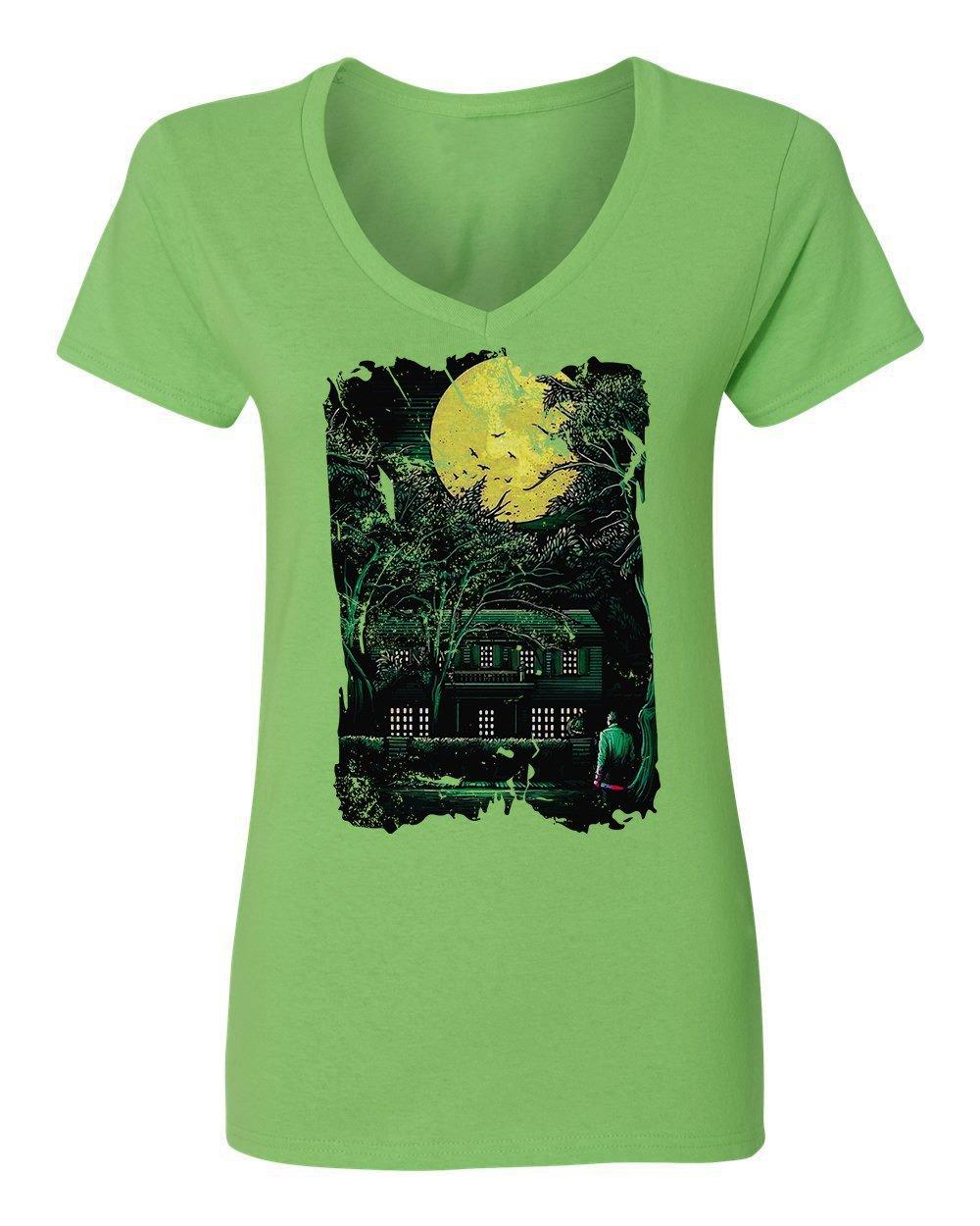 New Graphic Horror Movie Myers Novelty Tee Halloween Vneck T Shirt 8776