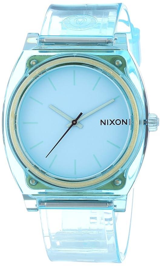 Nixon 0 - Reloj de cuarzo para mujer, con correa de plástico, color verde